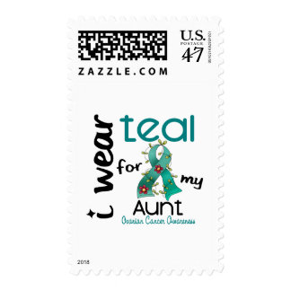 Ovarian Cancer I WEAR TEAL FOR MY AUNT 43 Postage