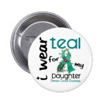 Ovarian Cancer I WEAR TEAL FOR MY DAUGHTER 43 Buttons