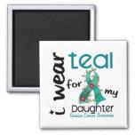 Ovarian Cancer I WEAR TEAL FOR MY DAUGHTER 43 Fridge Magnet