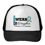 Ovarian Cancer I Wear Teal For My Daughter Mesh Hats