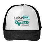 Ovarian Cancer I WEAR TEAL FOR MY GRANDMA 42 Hats