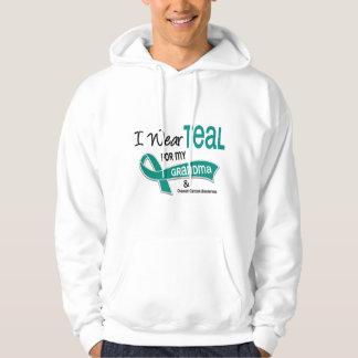 Ovarian Cancer I WEAR TEAL FOR MY GRANDMA 42 Hoodie