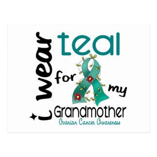 Ovarian Cancer I WEAR TEAL FOR MY GRANDMOTHER 43 Postcard