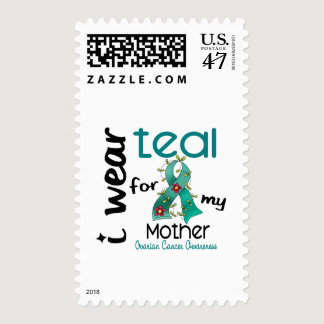 Ovarian Cancer I WEAR TEAL FOR MY MOTHER 43 Postage