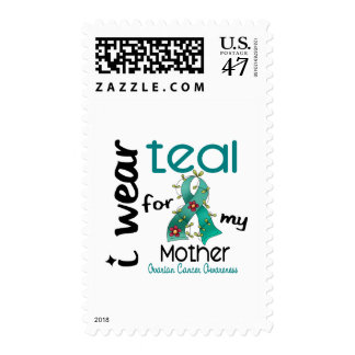 Ovarian Cancer I WEAR TEAL FOR MY MOTHER 43 Stamp