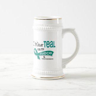 Ovarian Cancer I WEAR TEAL FOR MY NIECE 42 Coffee Mug