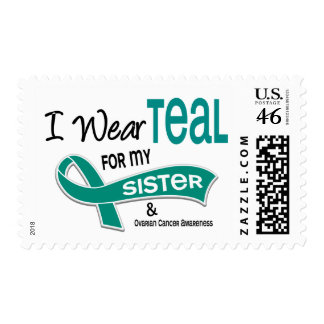 Ovarian Cancer I WEAR TEAL FOR MY SISTER 42 Stamps