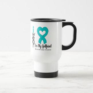 Ovarian Cancer I Wear Teal Heart For My Girlfriend Coffee Mugs