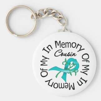 Ovarian Cancer In Memory of My Cousin Basic Round Button Keychain