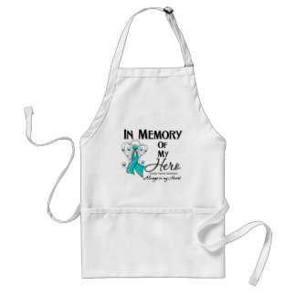Ovarian Cancer In Memory of My Hero Adult Apron