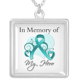 Ovarian Cancer - In Memory of My Hero Jewelry