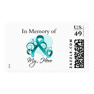 Ovarian Cancer In Memory of My Hero Postage