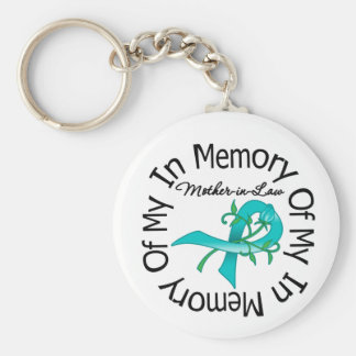 Ovarian Cancer In Memory of My Mother-in-Law Keychain