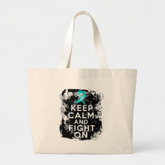Ovarian Cancer Keep Calm and Fight On Bags