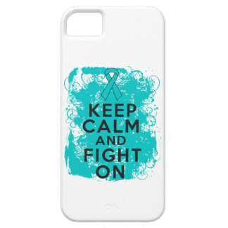 Ovarian Cancer Keep Calm and Fight On iPhone 5 Cases