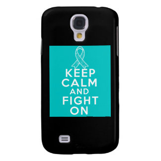 Ovarian Cancer Keep Calm and Fight On Samsung Galaxy S4 Covers