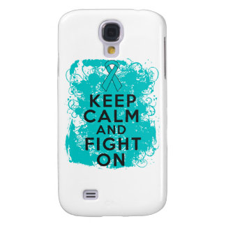 Ovarian Cancer Keep Calm and Fight On Samsung Galaxy S4 Cover