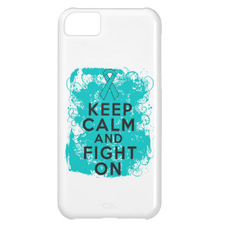 Ovarian Cancer Keep Calm and Fight On iPhone 5C Case