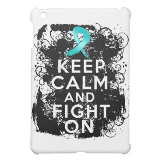 Ovarian Cancer Keep Calm and Fight On iPad Mini Covers