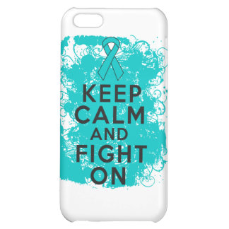 Ovarian Cancer Keep Calm and Fight On iPhone 5C Cover