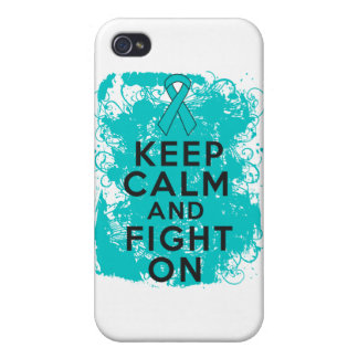 Ovarian Cancer Keep Calm and Fight On iPhone 4/4S Case
