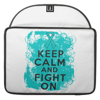 Ovarian Cancer Keep Calm and Fight On Sleeve For MacBook Pro
