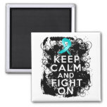 Ovarian Cancer Keep Calm and Fight On Magnet
