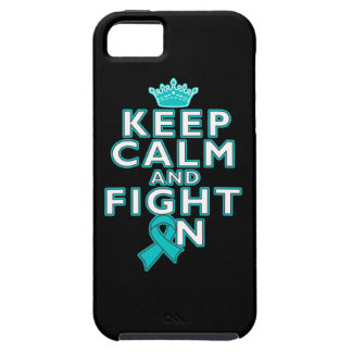Ovarian Cancer Keep Calm Fight On iPhone 5 Case