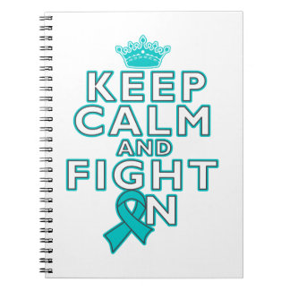 Ovarian Cancer Keep Calm Fight On Note Books