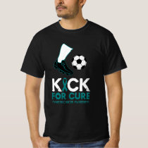 Ovarian Cancer-Kick For Cure Soccer Ball Design T-Shirt