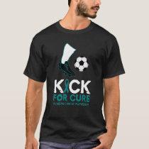 Ovarian Cancer-Kick For Cure Soccer Ball Design T-Shirt