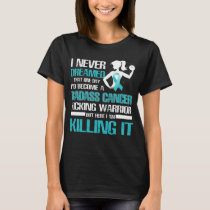 ovarian cancer kicking warrior women T-Shirt