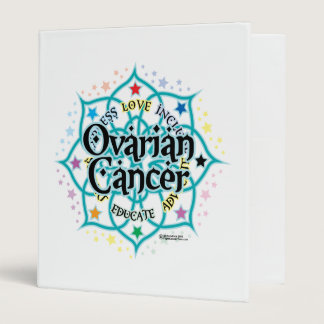 Ovarian Cancer Lotus 3 Ring Binder