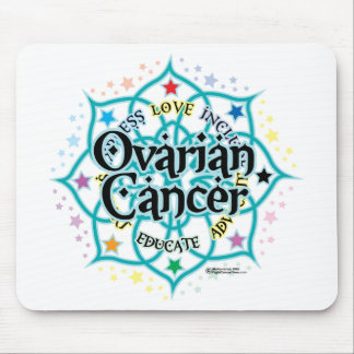 Ovarian Cancer Lotus Mouse Pad