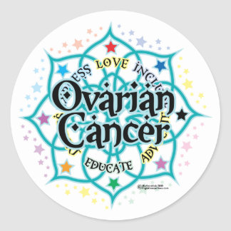 Ovarian Cancer Lotus Classic Round Sticker