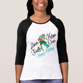 Ovarian Cancer Love Hope Holidays T-Shirt