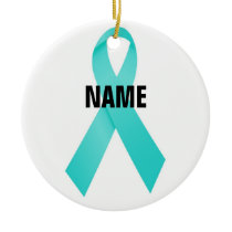 Ovarian Cancer Memorial Ceramic Ornament
