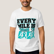 Ovarian Cancer Mens Every Mile is Worth It T-Shirt
