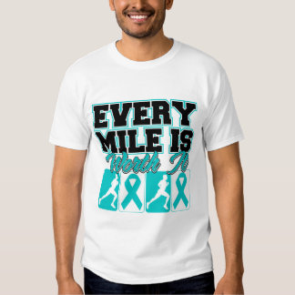 Ovarian Cancer Mens Every Mile is Worth It Tee Shirt