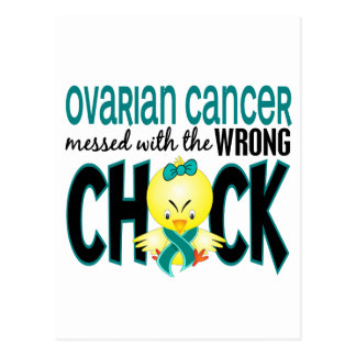 Ovarian Cancer Messed With The Wrong Chick Postcard