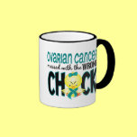 Ovarian Cancer Messed With The Wrong Chick Ringer Mug