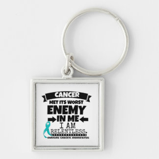 Ovarian Cancer Met Its Worst Enemy in Me Keychain