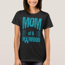 Ovarian Cancer Mom Of Warrior Autism Awareness T-Shirt
