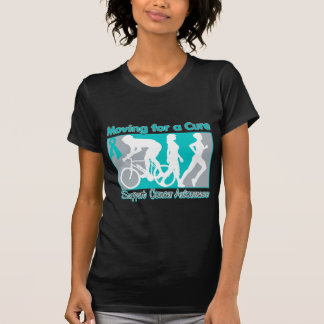 Ovarian Cancer Moving For A Cure Tee Shirts