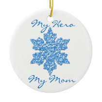 Ovarian Cancer My Hero My Mom ornament