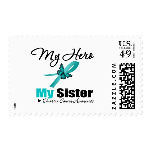 Ovarian Cancer My Hero My Sister Postage Stamps
