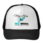 Ovarian Cancer My Hero My Wife Trucker Hat