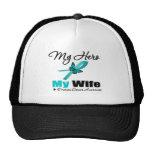 Ovarian Cancer My Hero My Wife Trucker Hats