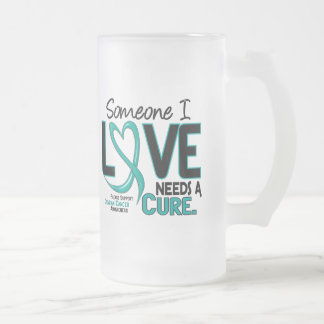 Ovarian Cancer NEEDS A CURE 2 16 Oz Frosted Glass Beer Mug