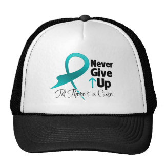 Ovarian Cancer Never Give Up Trucker Hat